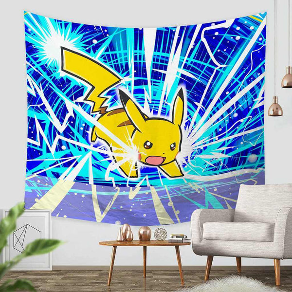 3D Custom Pokemon Tapestry Throw Wall Hanging Bedspread - Three Lemons Hometextile