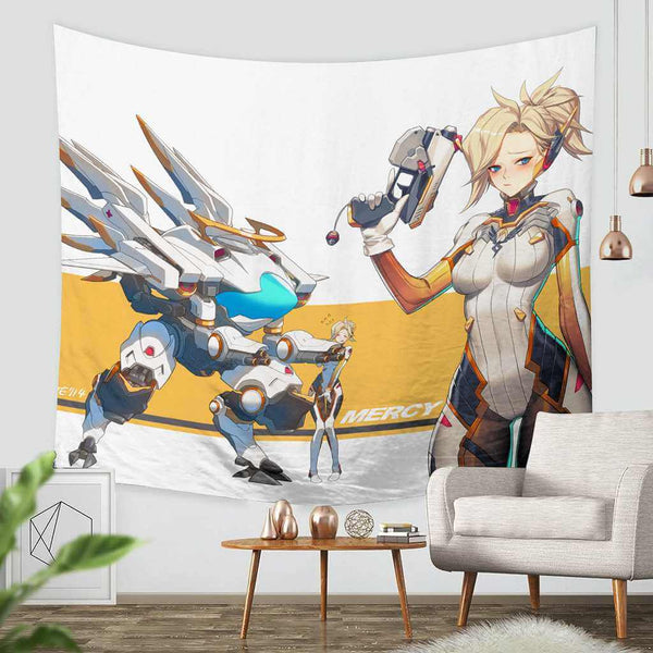 3D Custom Overwatch Tapestry Throw Wall Hanging Bedspread - Three Lemons Hometextile