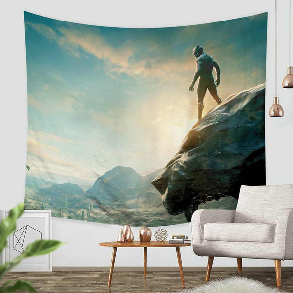 3D Custom Black Panther Tapestry Throw Wall Hanging Bedspread - Three Lemons Hometextile