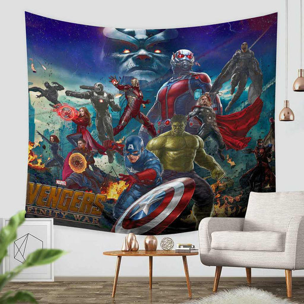 3D Custom Avengers Infinity War Tapestry Throw Wall Hanging Bedspread - Three Lemons Hometextile