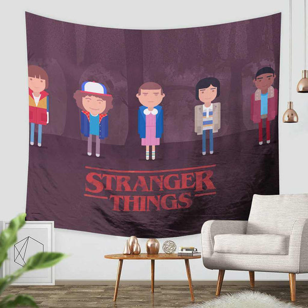 3D Custom Stranger Things Tapestry Throw Wall Hanging Bedspread - Three Lemons Hometextile