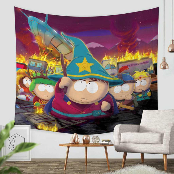 3D Custom South Park Tapestry Throw Wall Hanging Bedspread - Three Lemons Hometextile