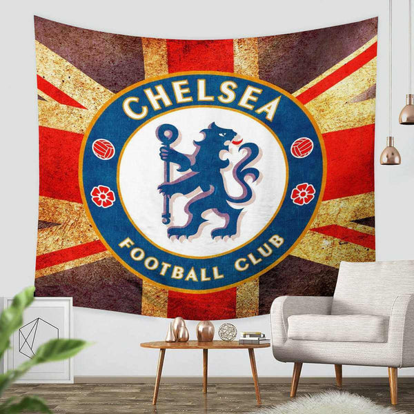 3D Custom Chelsea F.C. Tapestry Throw Wall Hanging Bedspread - Three Lemons Hometextile