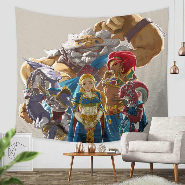3D Custom The Legend of Zelda Breath of the Wild Tapestry Throw Wall Hanging Bedspread - Three Lemons Hometextile