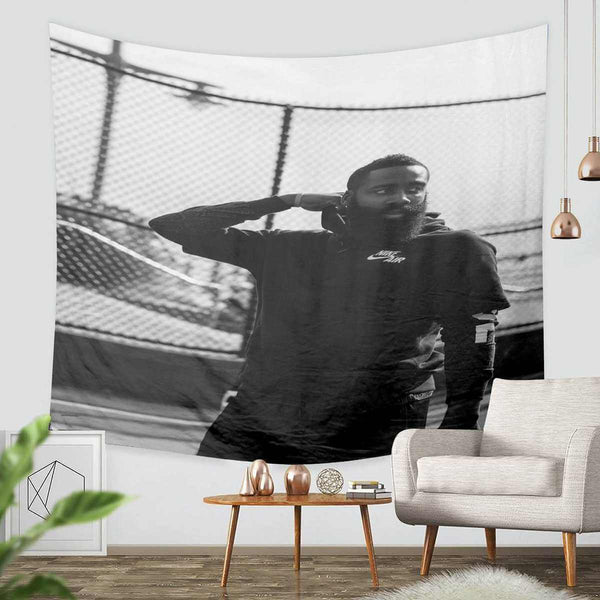 3D Custom James Harden Tapestry Throw Wall Hanging Bedspread - Three Lemons Hometextile