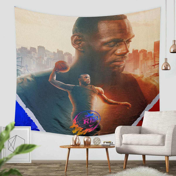 3D Custom Lebron James Tapestry Throw Wall Hanging Bedspread - Three Lemons Hometextile