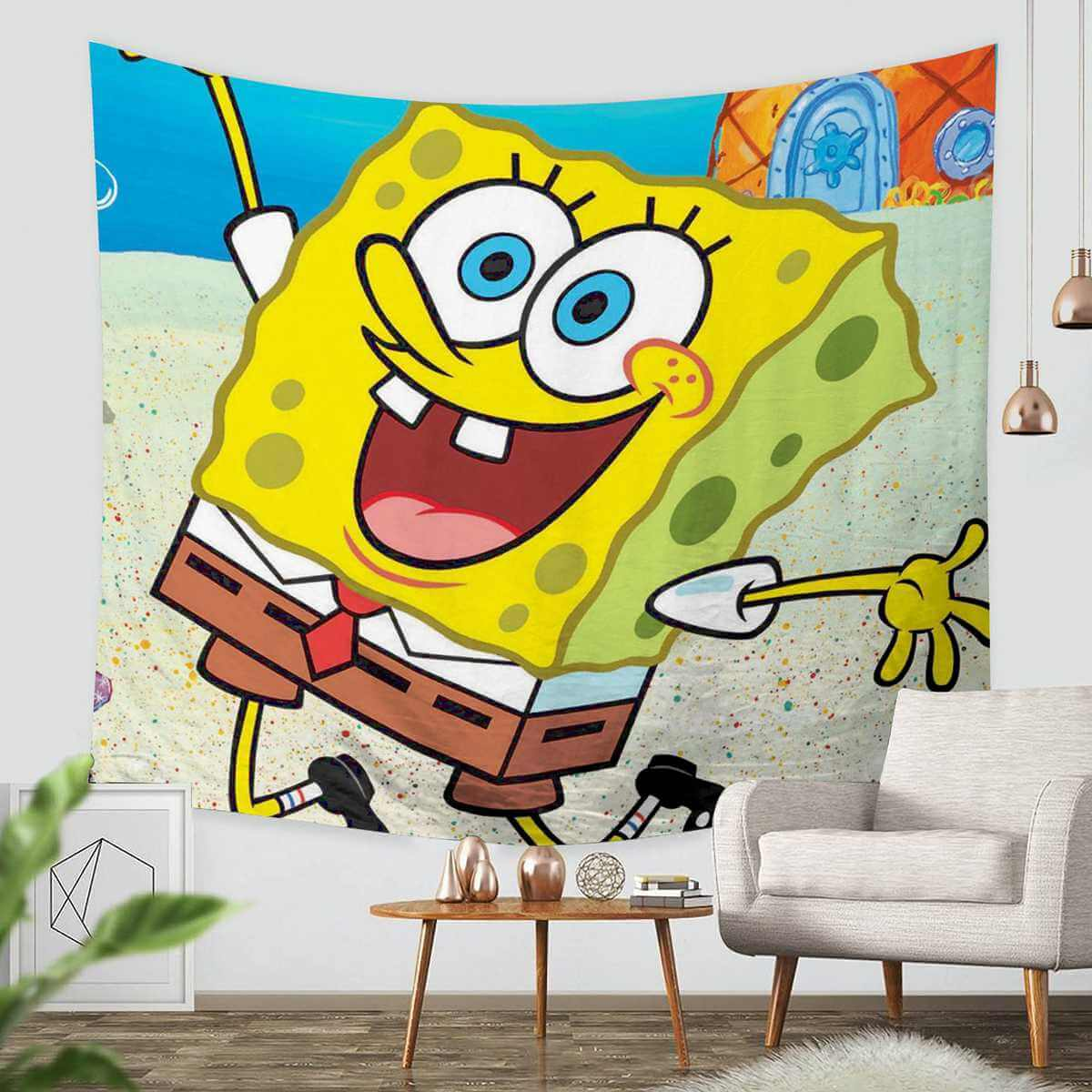 3D Custom SpongeBob SquarePants Tapestry Throw Wall Hanging ...