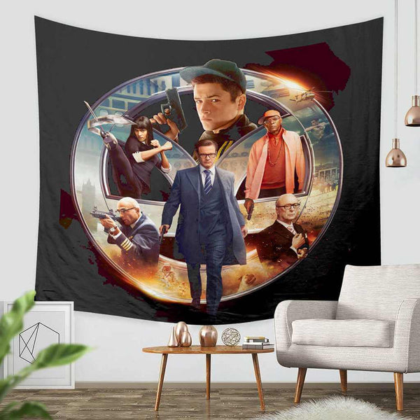 3D Custom Kingsman The Secret Service Tapestry Throw Wall Hanging Bedspread - Three Lemons Hometextile
