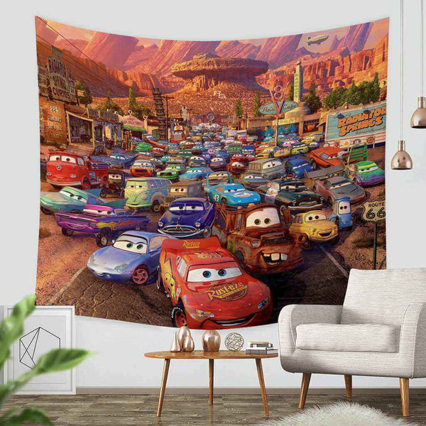 3D Custom Cars Tapestry Throw Wall Hanging Bedspread - Three Lemons Hometextile