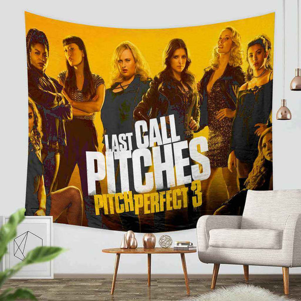 3D Custom Pitch Perfect 3 Tapestry Throw Wall Hanging Bedspread - Three Lemons Hometextile