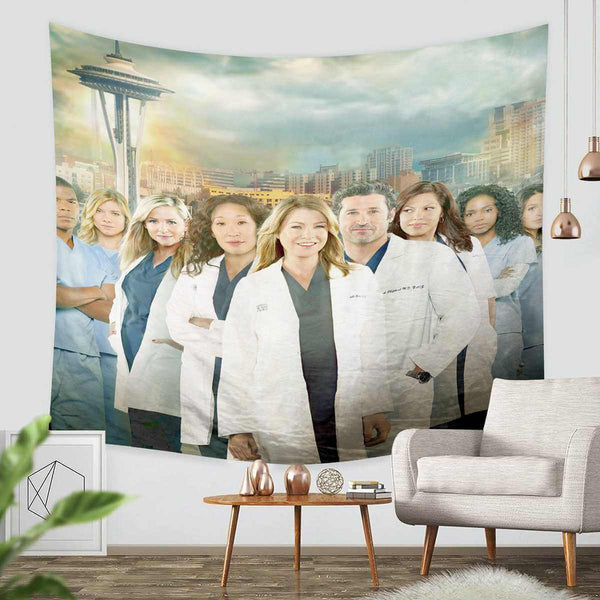 3D Custom Grey's Anatomy Tapestry Throw Wall Hanging Bedspread - Three Lemons Hometextile