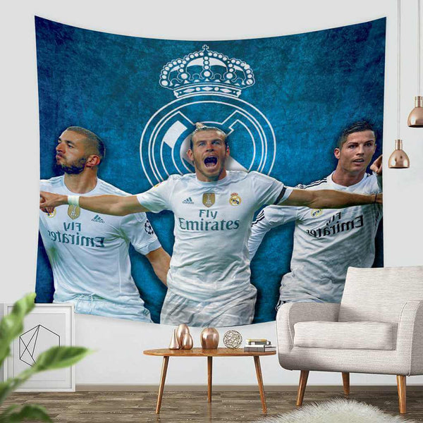 3D Custom Real Madrid C.F. Tapestry Throw Wall Hanging Bedspread - Three Lemons Hometextile