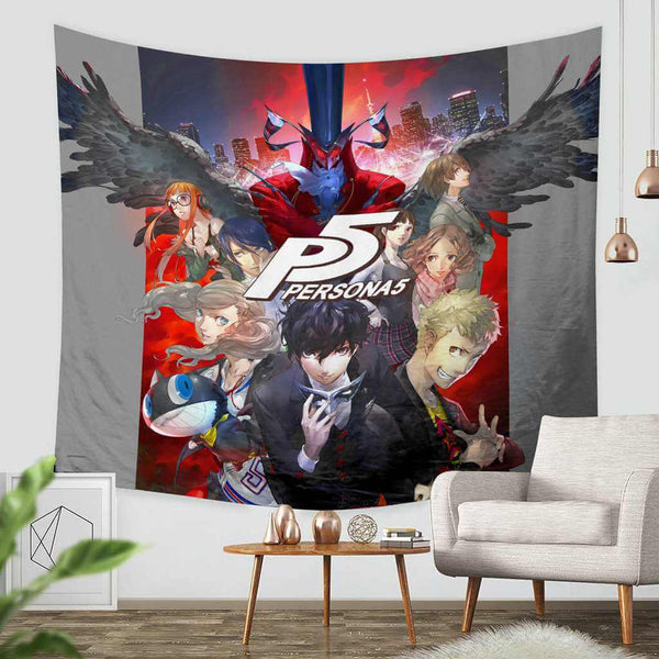 3D Custom Persona 5 Tapestry Throw Wall Hanging Bedspread - Three Lemons Hometextile