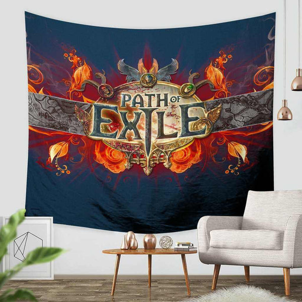 3D Custom Path of Exile Tapestry Throw Wall Hanging Bedspread - Three Lemons Hometextile