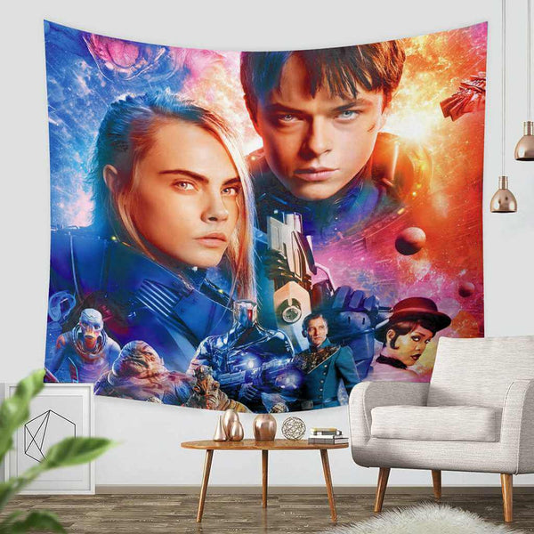 3D Custom Valerian and the City of a Thousand Planets Tapestry Throw Wall Hanging Bedspread - Three Lemons Hometextile