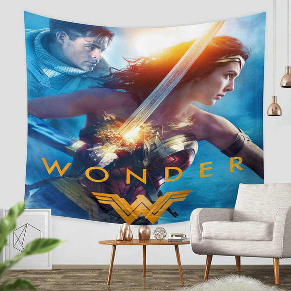 3D Custom Wonder Woman Tapestry Throw Wall Hanging Bedspread - Three Lemons Hometextile