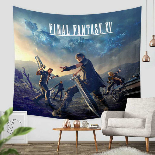 3D Custom Final Fantasy Tapestry Throw Wall Hanging Bedspread - Three Lemons Hometextile