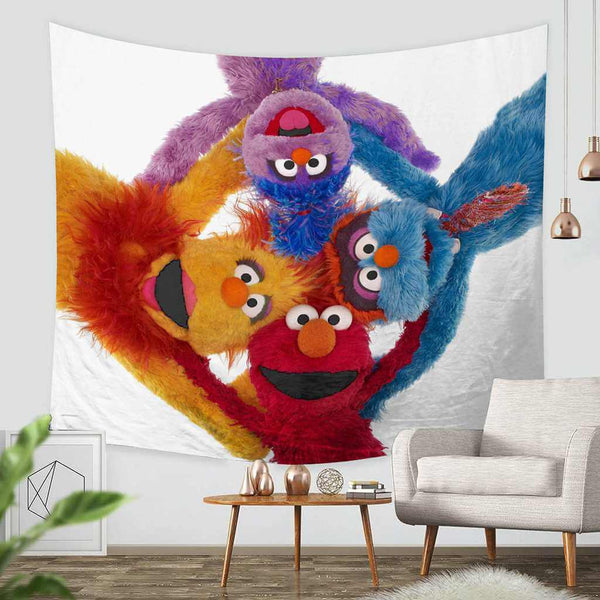 3D Custom Sesame Street Tapestry Throw Wall Hanging Bedspread - Three Lemons Hometextile