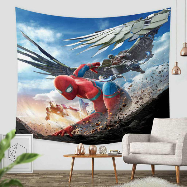 3D Custom Spider Man Homecoming Throw Wall Hanging Bedspread - Three Lemons Hometextile