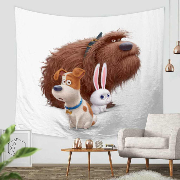 3D Custom The Secret Life of Pets Tapestry Throw Wall Hanging Bedspread - Three Lemons Hometextile