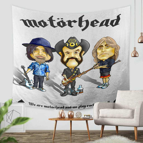 3D Custom Motorhead Tapestry Throw Wall Hanging Bedspread - Three Lemons Hometextile