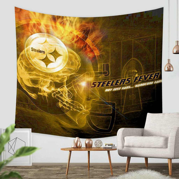 3D Custom Pittsburgh Steelers Tapestry Throw Wall Hanging Bedspread - Three Lemons Hometextile