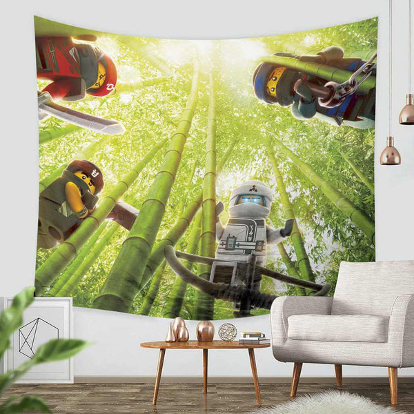 3D Custom The Lego Ninjago Tapestry Throw Wall Hanging Bedspread - Three Lemons Hometextile