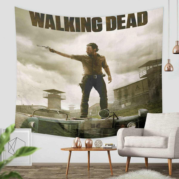 3D Custom The Walking Dead Tapestry Throw Wall Hanging Bedspread - Three Lemons Hometextile