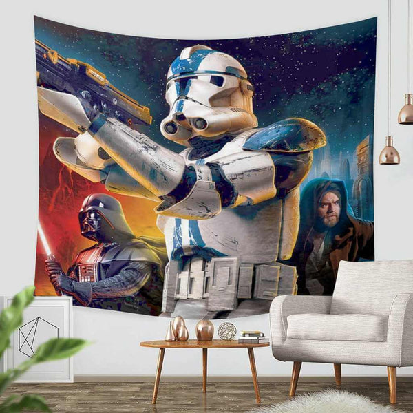 3D Custom Star Wars Battlefront Tapestry Throw Wall Hanging Bedspread - Three Lemons Hometextile