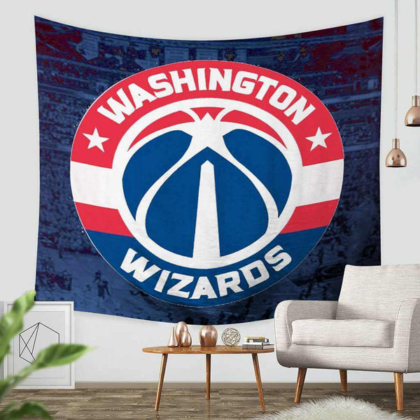 3D Custom Washington Wizards Throw Wall Hanging Bedspread - Three Lemons Hometextile