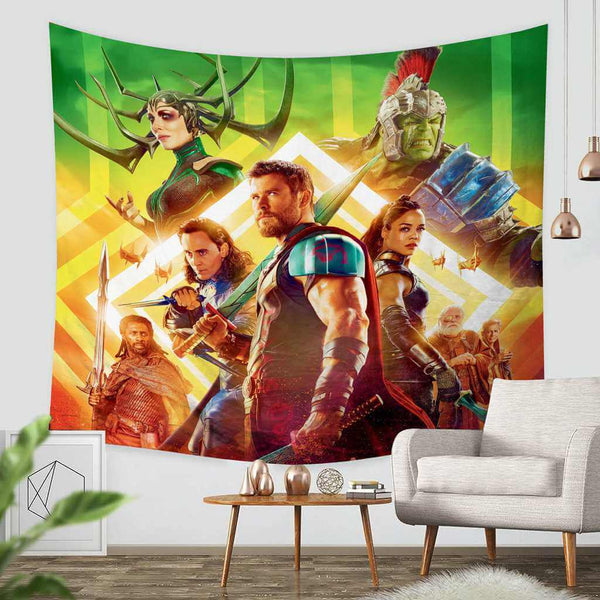 3D Custom Thor Ragnarok Throw Wall Hanging Bedspread - Three Lemons Hometextile
