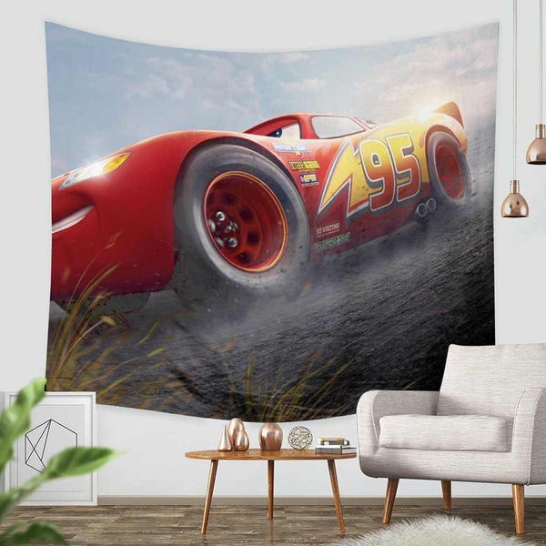 3D Custom Cars 3 Tapestry Throw Wall Hanging Bedspread - Three Lemons Hometextile