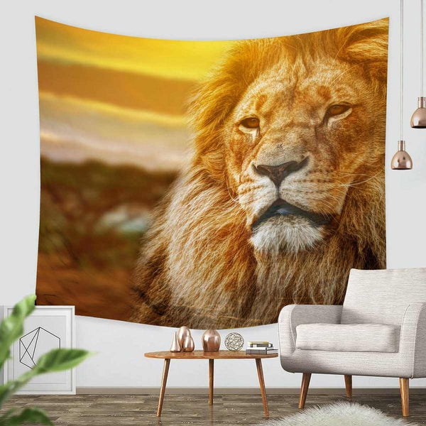 3D Custom Lion Tapestry Throw Wall Hanging Bedspread - Three Lemons Hometextile