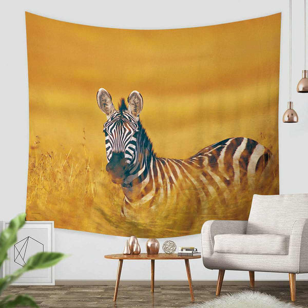 3D Custom Zebra Tapestry Throw Wall Hanging Bedspread - Three Lemons Hometextile