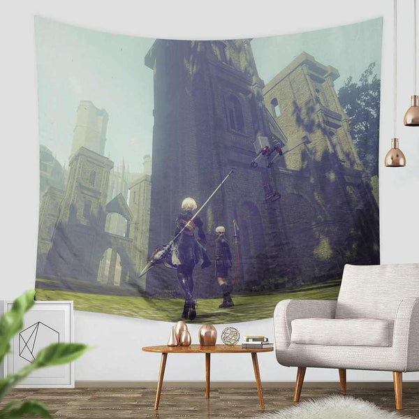 3D Custom Nier Automata Tapestry Throw Wall Hanging Bedspread - Three Lemons Hometextile