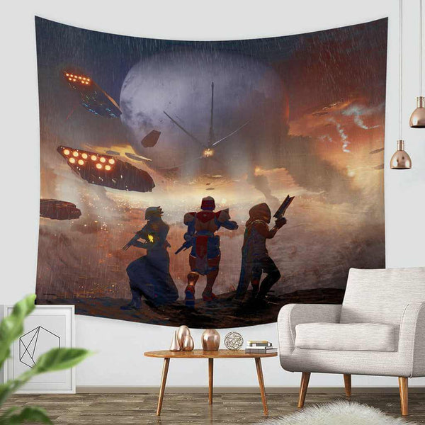 3D Custom Destiny Tapestry Throw Wall Hanging Bedspread - Three Lemons Hometextile