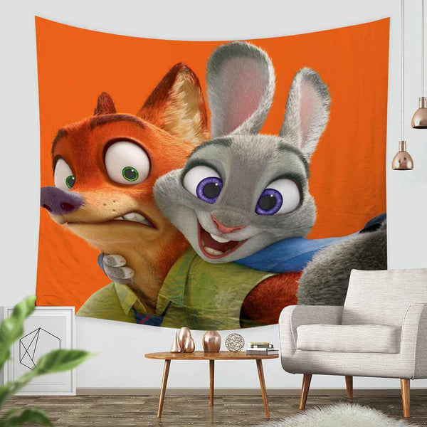 3D Custom Zootopia Tapestry Throw Wall Hanging Bedspread - Three Lemons Hometextile
