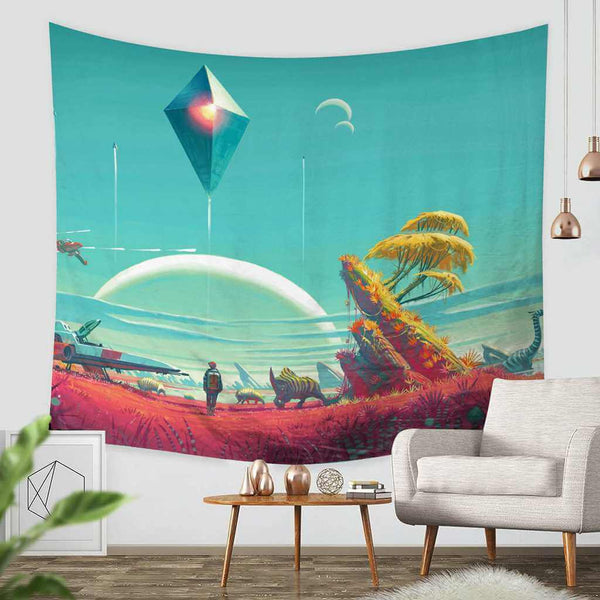 3D Custom No Man's Sky Tapestry Throw Wall Hanging Bedspread - Three Lemons Hometextile