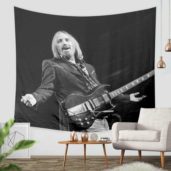 3D Custom Tom Petty Tapestry Throw Wall Hanging Bedspread - Three Lemons Hometextile