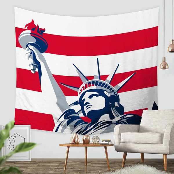 3D Custom Statue of Liberty Tapestry Throw Wall Hanging Bedspread - Three Lemons Hometextile