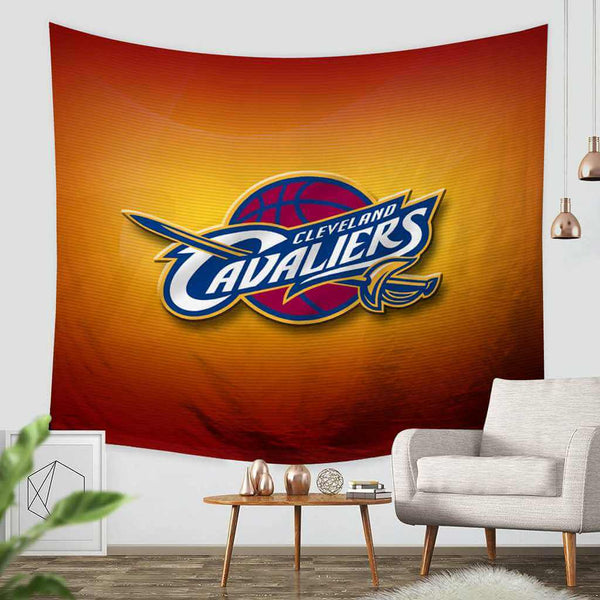 3D Custom Cleveland Cavaliers Tapestry Throw Wall Hanging Bedspread - Three Lemons Hometextile