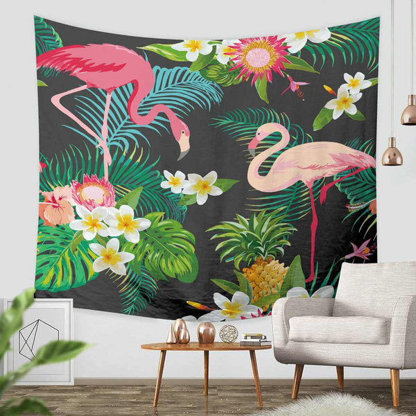 3D Custom Flamingo Tapestry Throw Wall Hanging Bedspread - Three Lemons Hometextile