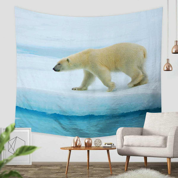 3D Custom Polar Bear Tapestry Throw Wall Hanging Bedspread - Three Lemons Hometextile