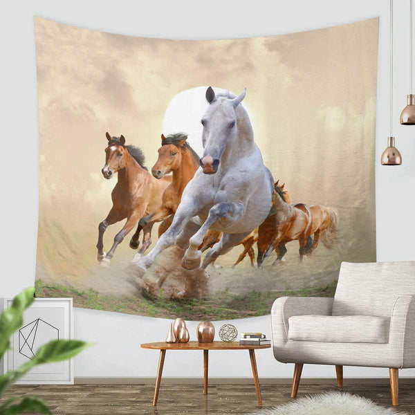 3D Custom Horse Tapestry Throw Wall Hanging Bedspread - Three Lemons Hometextile
