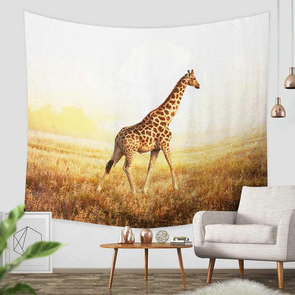 3D Custom Giraffe Tapestry Throw Wall Hanging Bedspread - Three Lemons Hometextile
