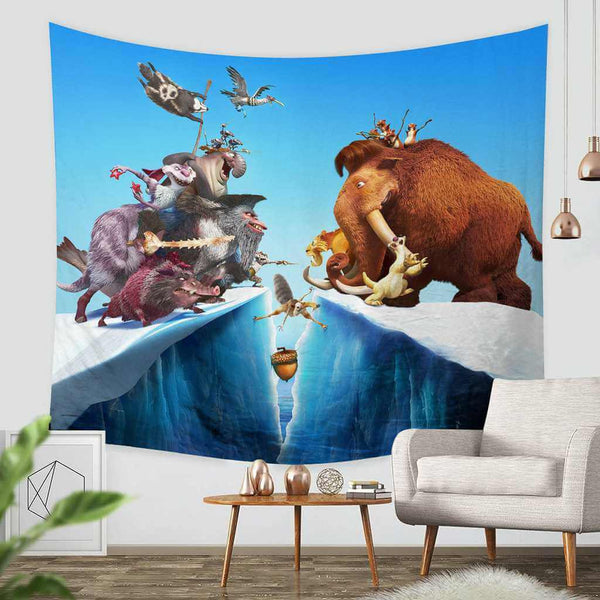 3D Custom Ice Age Tapestry Throw Wall Hanging Bedspread - Three Lemons Hometextile