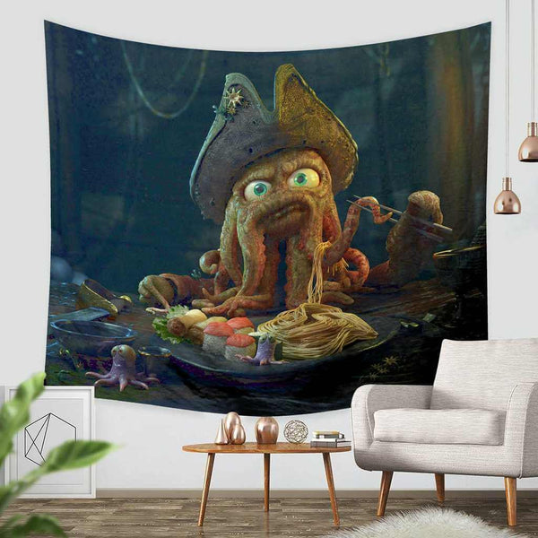 3D Custom Pirates Of The Caribbean Tapestry Throw Wall Hanging Bedspread - Three Lemons Hometextile