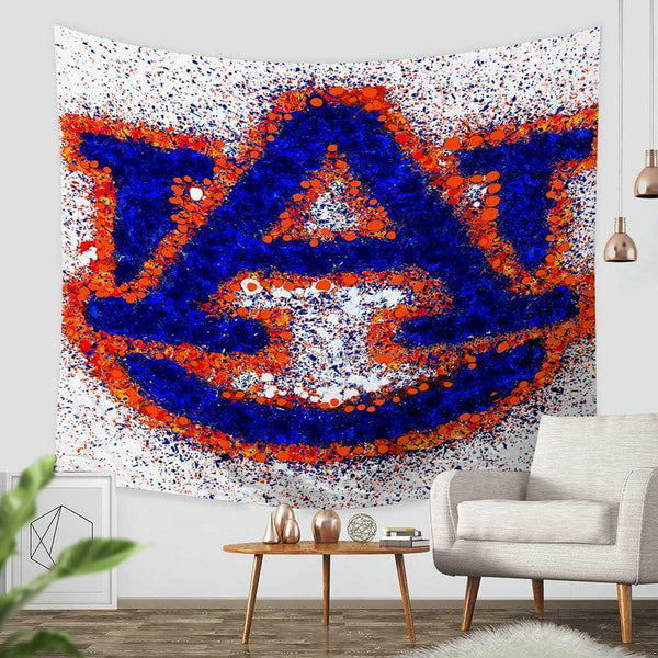 3D Custom Auburn Tigers Tapestry Throw Wall Hanging Bedspread - Three Lemons Hometextile
