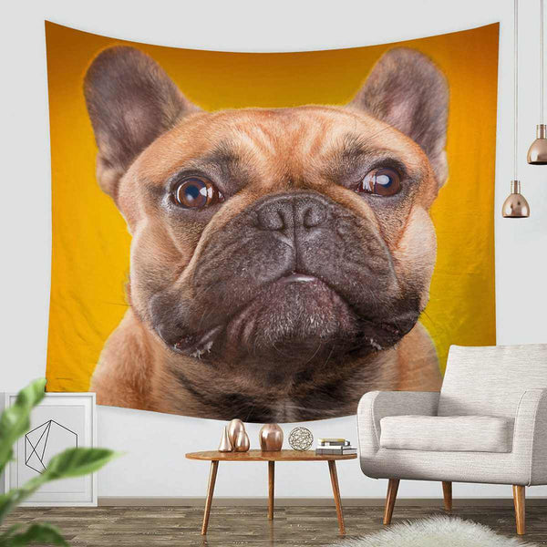 3D Custom Pug Tapestry Throw Wall Hanging Bedspread - Three Lemons Hometextile