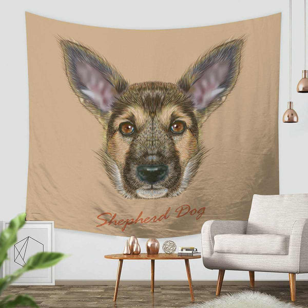 3D Custom Dog Tapestry Throw Wall Hanging Bedspread - Three Lemons Hometextile